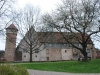 Michelstadt im Odenwald Blick auf Stadtmauer mit Diebesturm