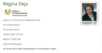 Regina Deja Agentur für Deutsche Vermögensberatung